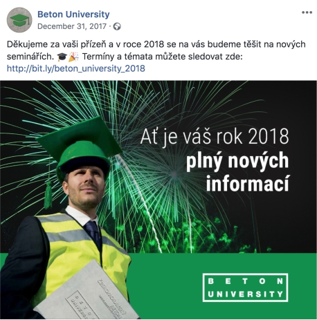 A popular Beton University Facebook post