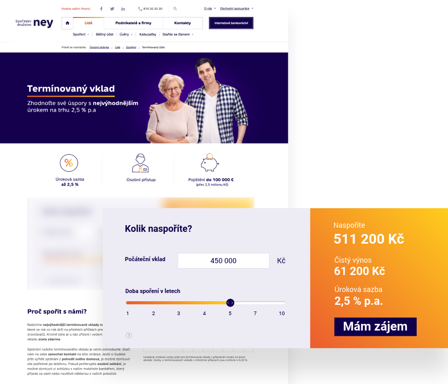 A new landing page for the NEY credit union