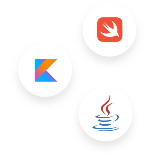 Java, Swift, Kotlin